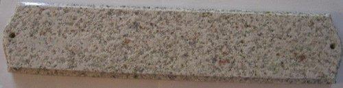 Qualarc Wexford Vertical Granite Address Plaque Autumn Leaf Natural Stone Color