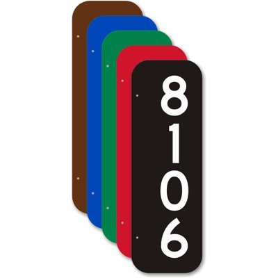 Add Own Number 2-Sided Diamond Grade Reflective Aluminum Street Sign 18 x 6
