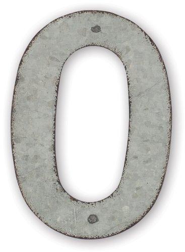 Sunset Vista Design Studios 4-inch Metal Address Tile Number 0