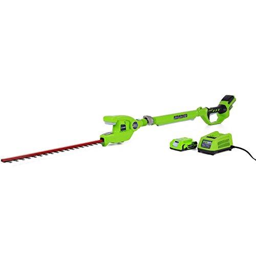 Greenworks 22242 G-24 24v 20&quot Cordless Pole Hedge Trimmer