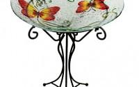 23-quot-Hand-Painted-Orange-amp-Yellow-Butterfly-Spring-Outdoor-Glass-Garden-Bird-Bath5.jpg