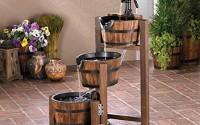 Apple-Barrel-Cascading-Water-Fountain-3-Tier-FIRWOOD-Outdoor-GARDEN-YARD-PATIO-11.jpg